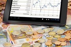 Aktienindex auf Tablette PC Lizenzfreie Stockbilder