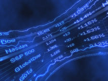 Aktienindex-Börsentelegraf-Auszug Lizenzfreie Stockfotos