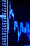 Aktienindexdynamik auf dem Überwachungsgerät. Stockfotos