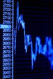 Aktienindexdynamik auf dem Überwachungsgerät. Stockfotografie