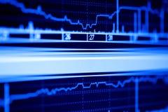 Aktienindexdynamik auf dem lcd-Überwachungsgerät. Lizenzfreie Stockfotos