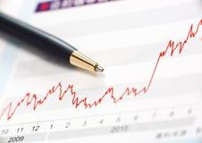 Aktienindexerhöhung Lizenzfreie Stockfotografie