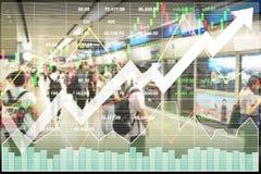 Aktienindexfinanzinvestition auf Transport Stockfotografie