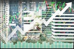Aktienindexfinanzwirtschafts-Investition auf Immobiliengeschäft Lizenzfreie Stockbilder