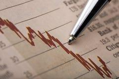 Aktienkurs-Analyse Lizenzfreie Stockfotos