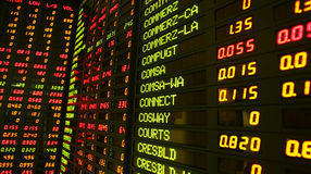 Aktienkurse Stockfotos