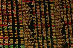 Aktienkurse Lizenzfreie Stockbilder