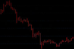 Aktienkurve Stockfoto