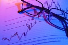 Aktienkurve-Handel Stockfotos