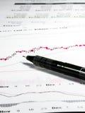 Aktienkurvedaten Lizenzfreies Stockfoto