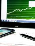 Aktienkurvedaten Lizenzfreie Stockbilder