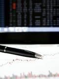 Aktienkurvedaten Lizenzfreie Stockfotografie