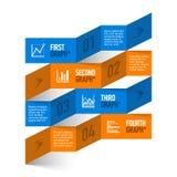 Aktienkurvethema moderne infographics Schablone Lizenzfreies Stockbild