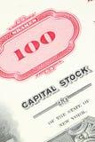 Aktienzertifikat Lizenzfreies Stockfoto