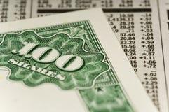 Aktienzertifikat Stockfotos
