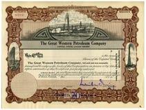 Aktienzertifikat Lizenzfreies Stockbild