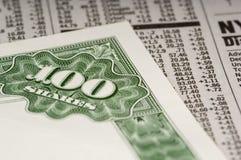 Aktienzertifikate Lizenzfreies Stockfoto