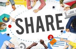 Aktiestolpemassmedia som tenderar socialt massmediabegrepp royaltyfri illustrationer