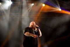 Aktion Bronson-Rapper führt im Konzert an Primavera-Ton 2016 durch Stockfoto