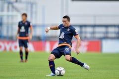 Aktion in der thailändischen ersten Liga Stockfotos
