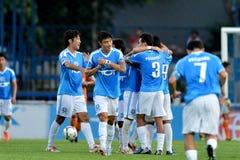 Aktion in der thailändischen ersten Liga lizenzfreie stockbilder