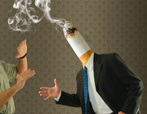 Aktion för cessation för head cigarett för ända röka Royaltyfria Foton