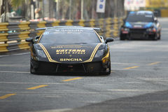 Aktion Lamborghinis Gallardo in Thailand-Super-Reihe Stockfoto