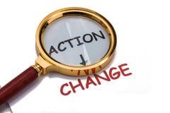 Aktion und Änderung Lizenzfreie Stockfotos