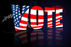 aktiondagvalet röstar Royaltyfri Bild