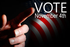 aktiondagvalet röstar Royaltyfri Fotografi