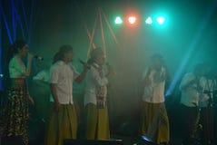 Aktions-Band Congrock 17 Semarang Stockbild