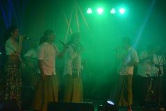 Aktions-Band Congrock 17 Semarang Stockbilder