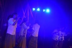 Aktions-Band Congrock 17 Semarang Lizenzfreie Stockfotos
