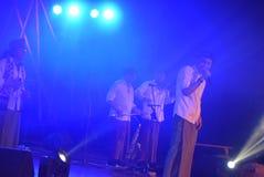 Aktions-Band Congrock 17 Semarang Lizenzfreies Stockfoto