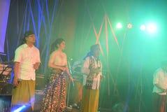 Aktions-Band Congrock 17 Semarang Lizenzfreies Stockbild