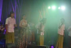 Aktions-Band Congrock 17 Semarang Lizenzfreie Stockbilder