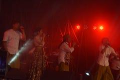 Aktions-Band Congrock 17 Semarang Lizenzfreie Stockfotografie