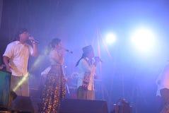 Aktions-Band Congrock 17 Semarang Stockfotografie