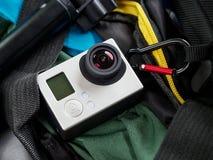 Aktionskamera-Abenteuerhintergrund Stockfotografie