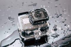 Aktionskamera GoPro-HELDEN 5 im wasserdichten Fall Stockfotos