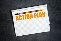 Aktionsplan-Kopien-Raum Stockfotografie