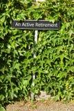 aktiv avgång Arkivfoto