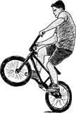 Aktiv cyklist Arkivbilder