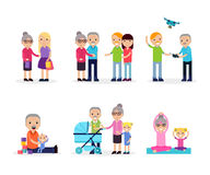 Aktiv fritidsammansättning royaltyfri illustrationer