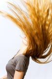 aktiv hårrörelsekvinna Arkivfoto