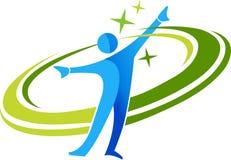 aktiv logo Royaltyfri Fotografi