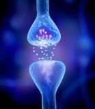 Aktiv receptor på blått royaltyfri illustrationer