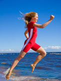aktiv running sportswoman Royaltyfri Fotografi
