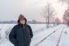 Aktiv till och med vintern arkivbilder