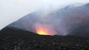 Aktiv Tolbachik för utbrott vulkan på den Kamchatka halvön Ryssland Far East lager videofilmer